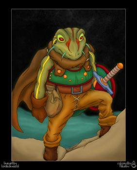 Frog Warrior colored by Palatin