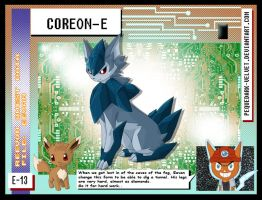 DATA: E-013 .:COREON-E:. by PEQUEDARK-VELVET