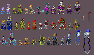 Freedom Planet 2 cast KOF style by DOA687