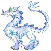 Ice Dragon King by MidxNight