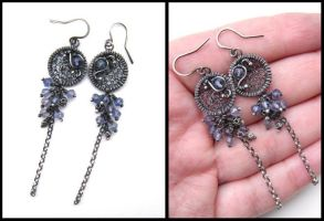 blue earrings by annie-jewelry