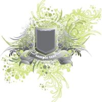 security shield on floral bg by cgvector
