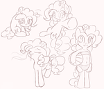 Pinkie Pie sketches by Ranoutofideas