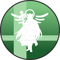 Super Smash Bros Lady Palutena Button by SweetTextArt