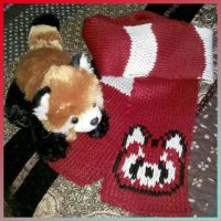 Red Panda Scarf by MadMouseMedia