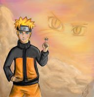Naruto - Sunset by shadowpaintedwhite