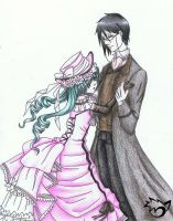 .: Ciel and Sebastian :. by CaptainPinsel