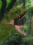 Indominus in the forrest by yankeetrex