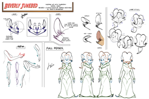 Commission: Beverly Junebed Model Sheet by AaronsArtStuff