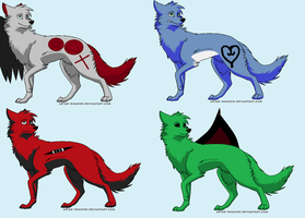 Name-Your-Price Wolf Adopts by KrisshysBlackROSE