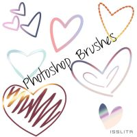 Heart Brushes by IssLiTa