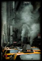 Yellow cabs, NYC by IMAGENES-IMPERFECTAS