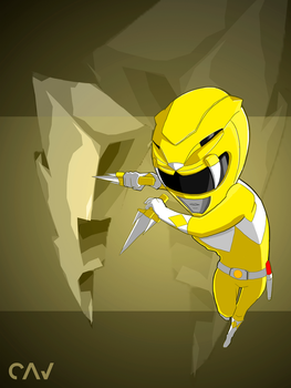 Yellow Ranger Mighty Morphin by RafaelCavalcanti