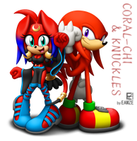 Coral-Chi and Knuckles by EAMZE
