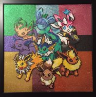 Eeveelution Perler Bead Design by Amber--Lynn