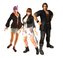 Ayane, Kasumi and Hayate (transparent png) by AgnessAngel