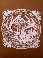 Deer Skull Spiderweb by GracePark