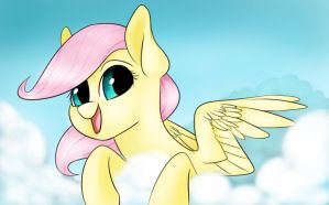 Happy filly flutters by UnorthodoxSocks