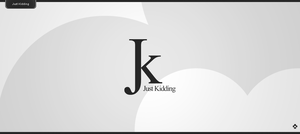 just kidding Logo by Toas7y