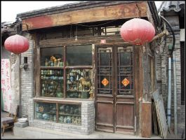 antique shop of Beijing by mengqingfei