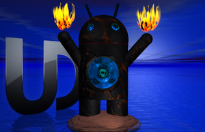 Black Lava Droid - Blue by TanKCR