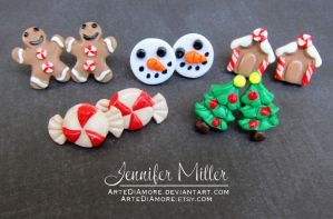 Christmas Earrings revamped by ArteDiAmore