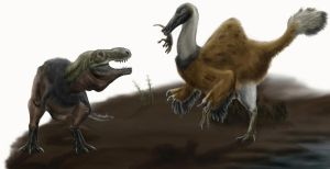 Don't mess with Deinocheirus by Durbed