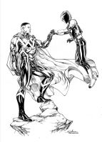 Blue Marvel and Nova by SpiderGuile