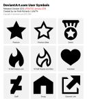 Official deviantART User Symbols Pack by zilla774