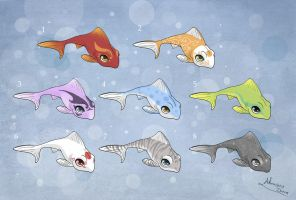 [Closed] Adoptables: Cute Fishes 1 by MySweetQueen