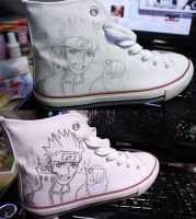 Drawing on shoes - Naruto by Veta94