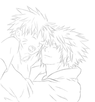 Naruto and Yondaime: Sketch by Nephij