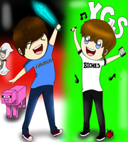 Jacksfilms and Tobuscus by FanaticFangurl