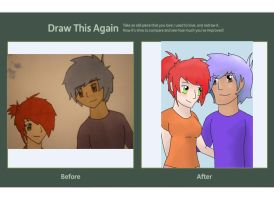 Draw this again Manga couple by spot1the2dog3