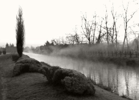 fog on the water by Itapao