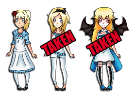 2nd Alice Batch (50 points each - OPEN) by TheYamiClaxia