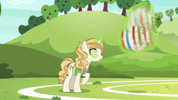 Sweet Biscuit making herself dizzy by StarVagrant