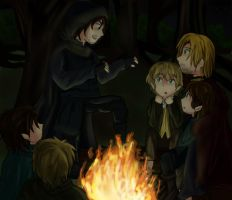 D9OTPC (Hanging out with friends)- Campfire tales by ValiChan