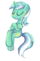 My Little Pony - Lyra Sitting shirt design by kaizerin
