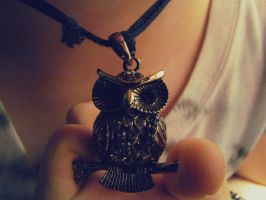 Owl Pendant by raych3l