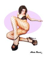 Fishnet Pin-Up by NetSeawolf
