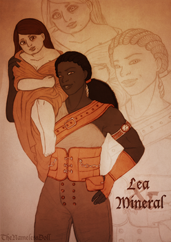 Lea and Mineral by TheNamelessDoll
