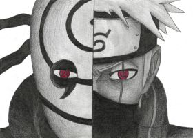 Obito and Kakashi by GelberBlitz