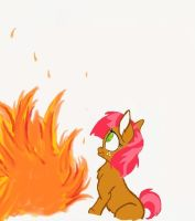 Babs and Fire by AppleCider1412