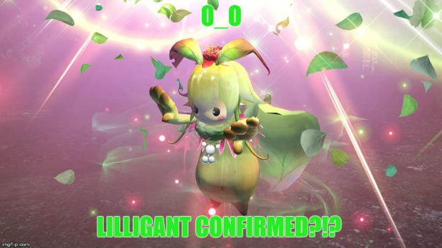 Lilligant in Nights of Azure 2?!? by CerisBeech