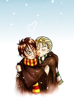 Drarry keep you warm by IchiOfTheRainbow