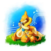 Floatzel and Buizel by LazyAmphy