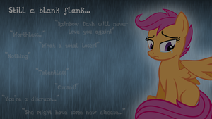 Scootaloo in the Rain by hunterz263
