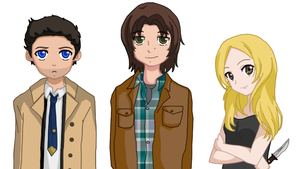 Supernatural Visual Novel Designs by Risu-chan14