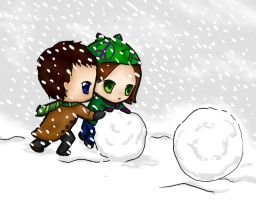 Let's play in the snow by nightwing6497